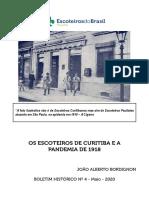 OS ESCOTEIROS E A PANDEMIA DE 1918
