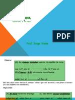 Concordância nominal e verbal em slides prof jorgeviana