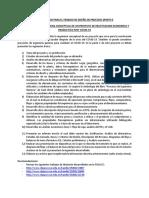 Trabajo de Diseño de Procesos 20-20 (Parte I)