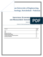 Industrial Economics and Management Assignment by Waqas Ali Tunio