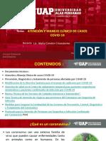 SEMANA 3 ATENCION Y MANEJO CLINICO DE CASOS COVID - 19