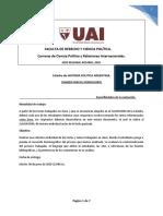 Evaluación de HISTORIA POLÍTICA ARGENTINA.