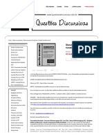 Discursivas de Direito Constitucional - Questões Discursivas