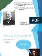 TERCERA CLASE-EL NOMBRE DE LA INVESTIGACION A