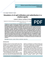 Simulation of soil spill infiltration