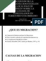 Percepción de la ciudadanía Bogotana en la localidad
