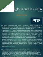 La Iglesia ante la Cultura