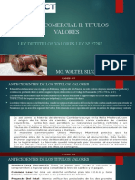 DIAPOSITIVAS DE PRINCIPIOS DE LOS TITULOS VALORES E INTEGRACION DEL TITULO VALOR