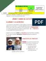 GUÍA 10- GENERO Y NÚMERO DE LOS SUSTANTIVOS