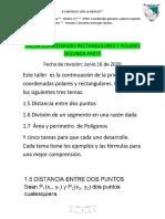 TALLER COORDENADAS RECTANGULARES Y POLARES SEGUNDA PARTE (1)(1)