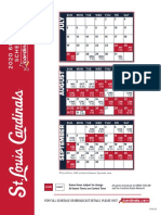 2020 60-Game Schedule for the Cardinals