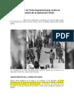 Laura Carranza-Trabajo escrito acerca de la Operación Orion