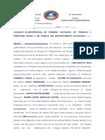 DEMANDA DE JUICIO ORAL DE FIJACION DE PENSION ALIMENTICIA