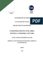 Comemorações do 25 de Abril – Política e Memória (1975-1986) — Daniel Filipe Quinzerreis Ramalho (2)