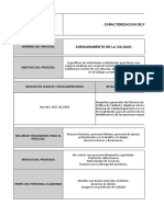 caracterización procesos PUROCOLOMBIA