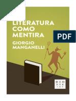 GIORGIO MANGANELLI LA LITERATURA COMO MENTIRA