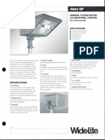Wide-Lite Aktra GP Floodlight Bulletin 1996