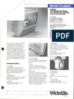 Wide-Lite BM-HAZ Floodlight Hazardous Bulletin 1985