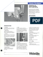 Wide-Lite F Series Floodlight Bulletin 1984
