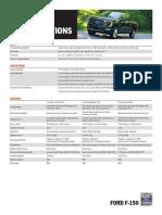 Especificaciones Técnicas Ford F-150 2021