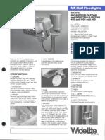 Wide-Lite MF-HAZ Floodlight Hazardous Bulletin 1987