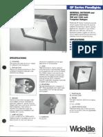 Wide-Lite QF Floodlight Bulletin 1984