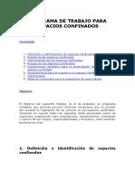 B-07 PROGRAMA DE TRABAJO PARA ESPACIOS CONFINADOS COMPLETO