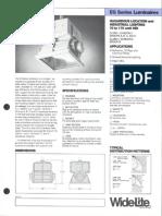 Wide-Lite EG Series Hazardous Bulletin 1986