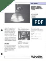 Wide-Lite HB Series Industrial Bulletin 1987