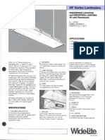 Wide-Lite HF Series Hazardous Bulletin 1985