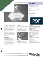 Wide-Lite LBI Series Industrial Bulletin 1987