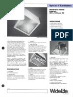 Wide-Lite Spectra V Industrial Bulletin 1986