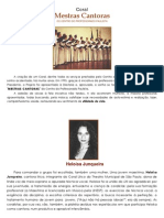 História do Coral Mestras Cantoras do CPP sob a regência da Maestrina HELOÍSA JUNQUEIRA