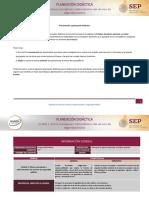 Planeación didáctica U1
