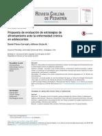 Propuesta de evaluación de estrategias de afrontamiento ante la enfermedad cronica en adolscentes