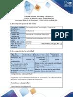 Guía de Actividades y Rúbrica de Evaluación - Fase 0 - Presaberes- Realizar Lectura Previa