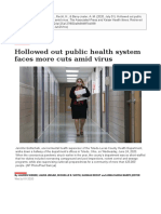 AP News and Kaiser Health News - Hollowed out public health system faces more cuts amid virus (Jul. 01, 2020)