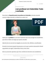 Requisitos para ser profesor en Colombia【2020 】