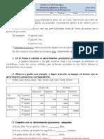 Ficha Dos Deter Min Antes e Pronomes Possessivos