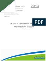 CRITERIOS Y NORMATIVA BASICA DE ARQ ESCOLAR