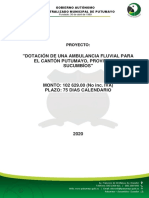 DOTACIÓN DE AMBULANCIA FLUVIAL PARA EL CANTÓN PUTUMAYO