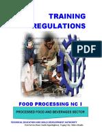 Food processing NC I