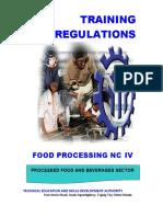 Food processing NC IV
