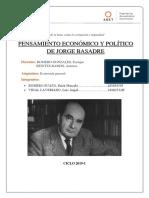 Pensamiento ecnómico y político de Jorge Basadre