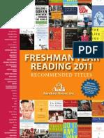 Freshman Year Reading 2011 Catalog