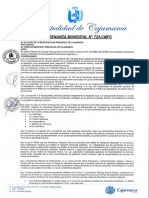 O.M. Nº 725-CMPC- APRUEBA LA IMPLEMENTACION DE CICLOVIAS (1)