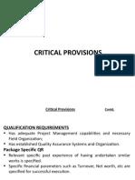 Critical Provision JP