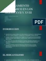 EL PENSAMIENTO ECONOMICO EN LOS SIGLOS XVII Y XVIII