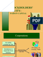 Stock Holders Equity  Paid in Capital