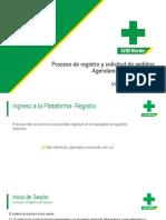 Proceso de registro y solicitud de pedidos agendame_domicilios